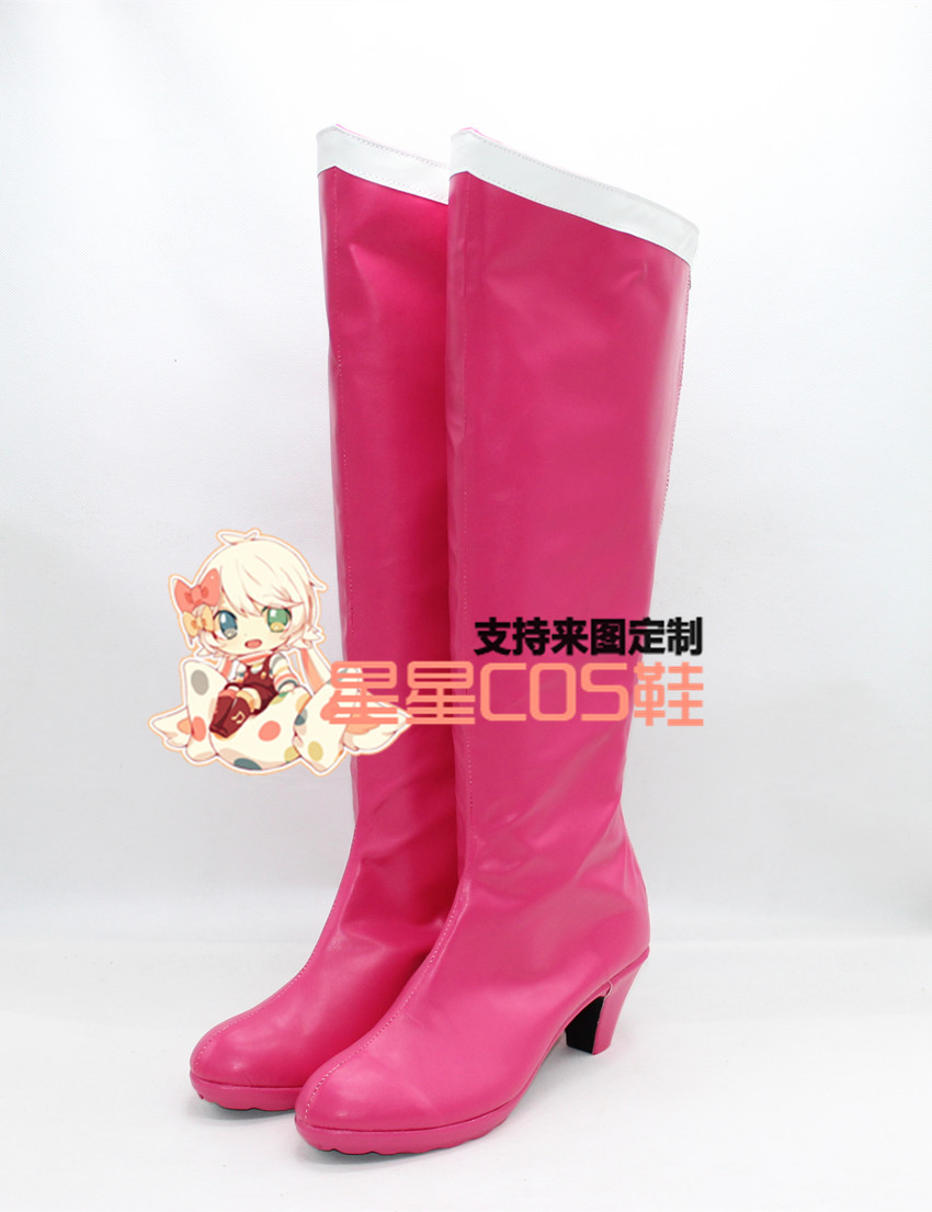 Sailor Moon Sailor Chibi Lune Filles Rose Longue Cosplay Chaussures Bottes X002
