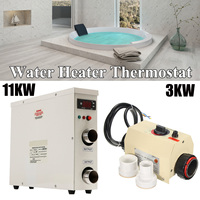 220V 3KW/11KW Electric Swimming Pool Water Sports and SPA Bath Heating Tub Water Heater Thermostat Swimming Pool Accessories