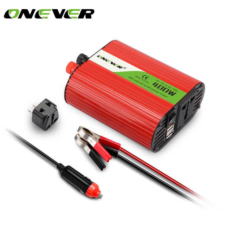 Onever 400 واط السيارات السلطة العاكس 12 فولت 110 فولت العاكس 50 هرتز تحويل 3.1A المزدوج USB المزدوج شاحن سيارة 12 فولت الطاقة المقبس المزدوج USA منفذ