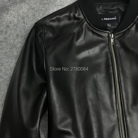 Factory men jacket male baseball uniform genuine leather motorcycle leather clothing slim design sheepskin short outerwear Islamabad