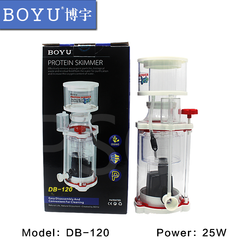 Boyu DB 120 DB120 Protein separator sea water fish egg foam processor needle brush defoaming nitrogen