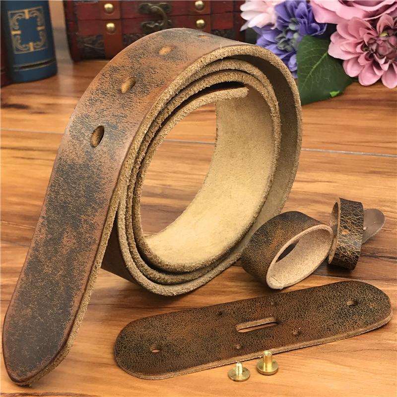 De calidad superior de cuero cinturones sin hebillas de correa de los hombres Ceinture Homme hombre cinturones de cuero sin hebillas 105-125 CM SP05