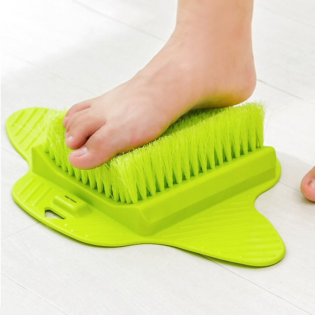 Foot Massage Brush Relax Relief Scrub Massager Spa Shower Feet Care Exfoliating Remove Dead Skin Cleaning Scrubber Bathroom 5 in 1 electric body foot massage spa facial cleansing brush massager brushes blackhead dead skin care face brush massage relax