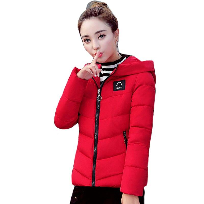 Outwear Winter Women   Basic     Jacket   Slim Womens   Jackets   Hooded Cotton Padded Short Coat Coats 2019 New Arrival Casaco Feminino