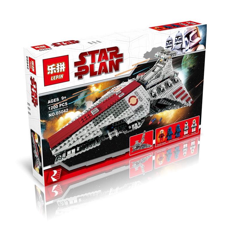 ФОТО Building Blocks 1200Pcs Star Wars Venator-Class Republic Attack Cruiser Model Toys For Children Compatible With 8039 LEPIN 05042