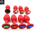70*28mm Silicone Mini Anal Sex Toys For Women Men Erotic Butt Plugs + Crystal Jewelry Adult Booty Beads Anus Products ELDJ140