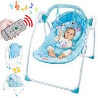 Детский Электрический умный пульт дистанционного управления качели качалка Колыбель Coax для сна новорожденный успокаивающее кресло Детски
