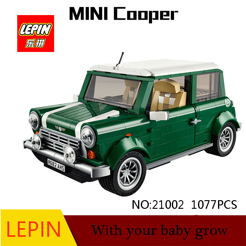 DHL Lepin Technic Series Lepin 21002 1077PCS Cooper Model Building Kits Block Bricks Children Toys Compatible with Legoed 10242 lepin 22001 pirate ship imperial warships model building block briks toys gift 1717pcs compatible legoed 10210