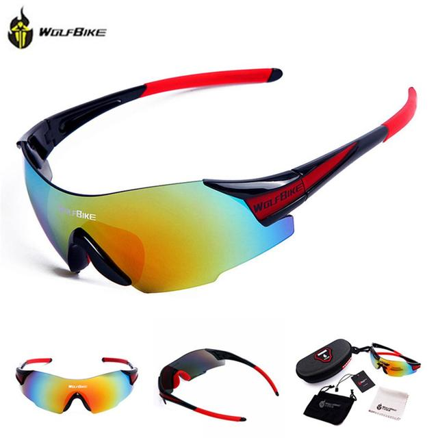 17715642f76 WOLFBIKE UV400 Cycling Glasses Women s Men s Outdoor Sports Bike Bicycle  Windproof Sunglasses 3 Colors 1 Lens with original box