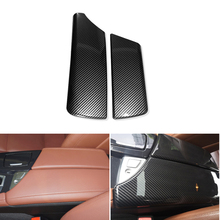 цена на Car Carbon Fiber Texture Center Console Armrest Box Pad Protection Cover For BMW 5 Series F10 F18 2011 2012 2013 2014 2015 -2017