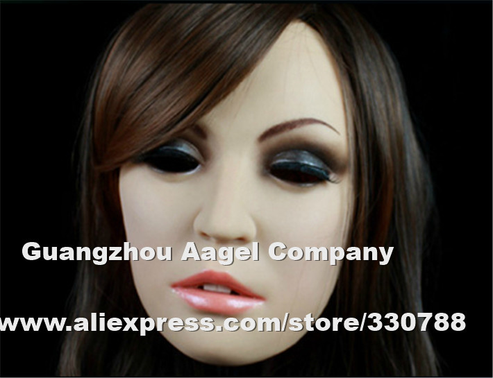 [SH-6] silicone face mask halloween, party masquerade masks women, full female christmas - Guangzhou Angel Company store