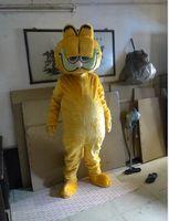 Plush Garfield Adult size Mascot costume Cartoon character costumes Free shipping