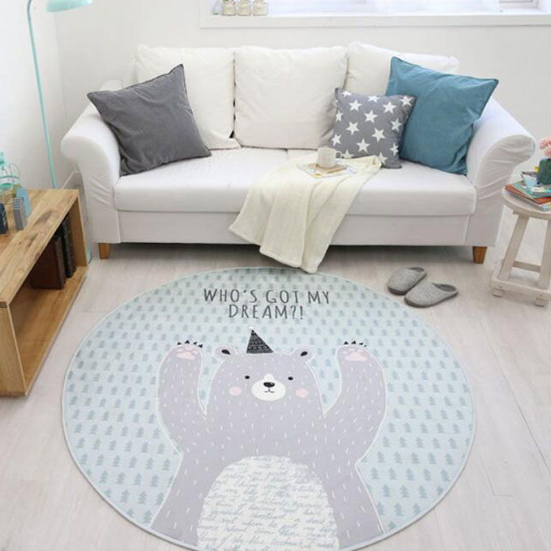 Tapis rond de bande dessinée de tapis de diamètre du velours 120 cm de flanelle antidérapant pour des tapis et des tapis de chaise d'ordinateur de salon