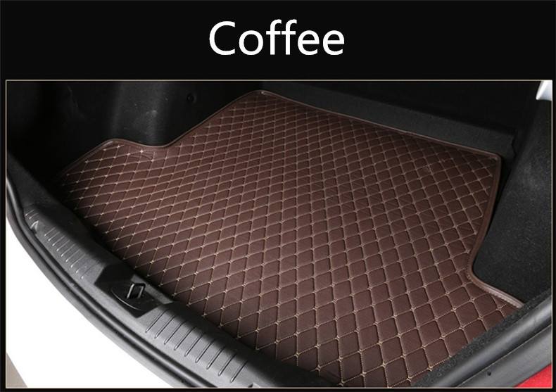 Auto Cargo Liner Trunk Mats For BMW E60 520 528 530 535 550 2004-2010 Boot Mat High Quality New Embroidery Leather Free shipping car rear trunk security shield cargo cover for volkswagen vw tiguan 2016 2017 2018 high qualit black beige auto accessories