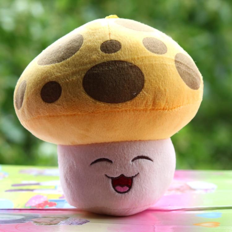 16cm Plants Vs Zombies Mushroom Soft Plush Pp Cotton Sun-shroom Toys for Baby Kids Gifts