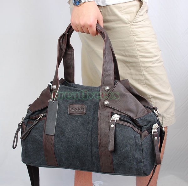 2017 High Quality Men's Canvas Travel Large Handbag Messenger Shoulder Cross Body Tote Casual Bag Handbags high quality authentic famous polo golf double clothing bag men travel golf shoes bag custom handbag large capacity45 26 34 cm