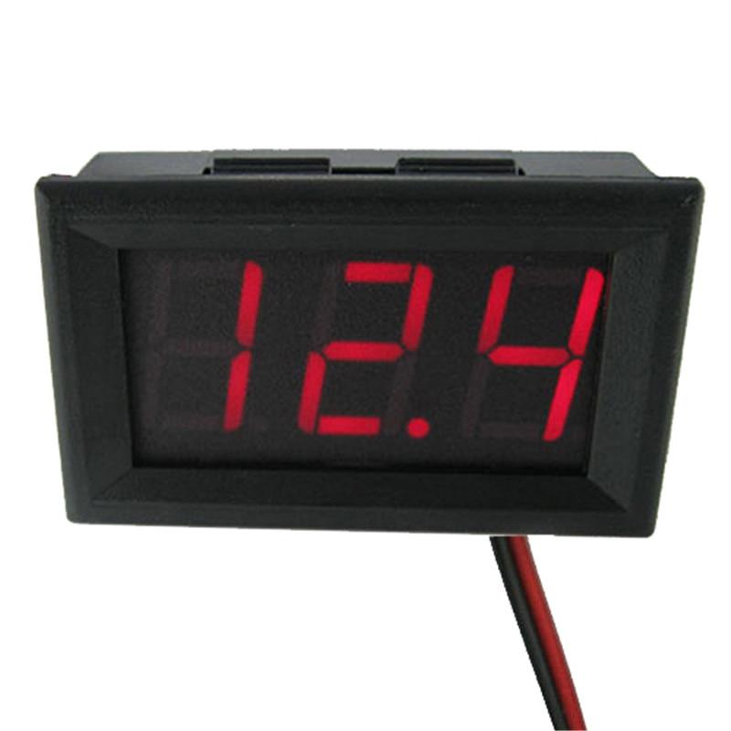Mini voltmetro digitale a due fili Display a LED rosso DC0 ~ 30V Rivelatore di voltmetro con protezione di inversione