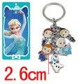 Juguetes lindos del Anime figuras llavero Anna Elsa Olaf llavero del muñeco llavero para niños juguetes de regalo decoraciones niñas