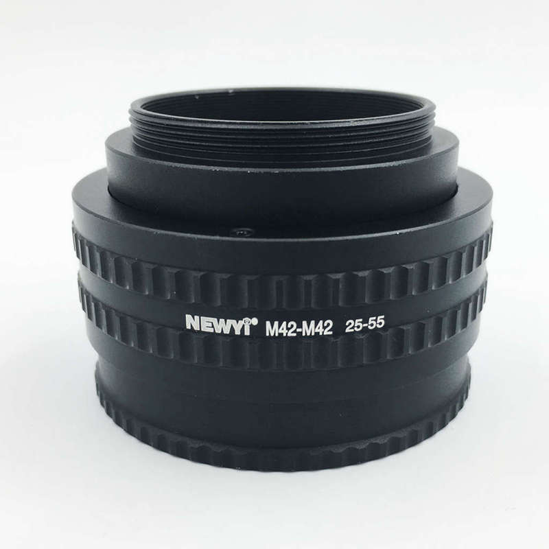 Image 4 - Newyi M42 To M42 Mount Lens Adjustable Focusing Helicoid Macro Tube Adapter   25Mm To 55Mm camera Lens Converter Adapter Ring-in Lens Adapter from Consumer Electronics