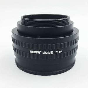 Image 4 - Newyi M42 per M42 Mount Lens Adattatore Tubo Regolabile Messa a Fuoco Elicoidale Macro 25 Mm a 55Mm Obiettivo Della Fotocamera convertitore Adattatore Anello