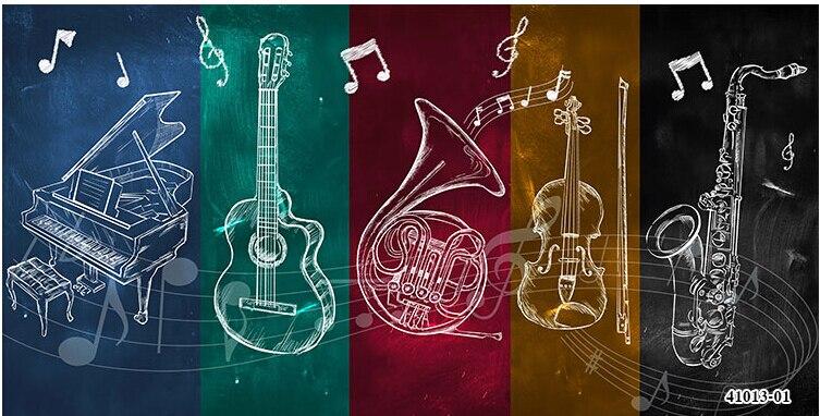Rock music elements murals Bar Cafe Restaurant KTV ...
