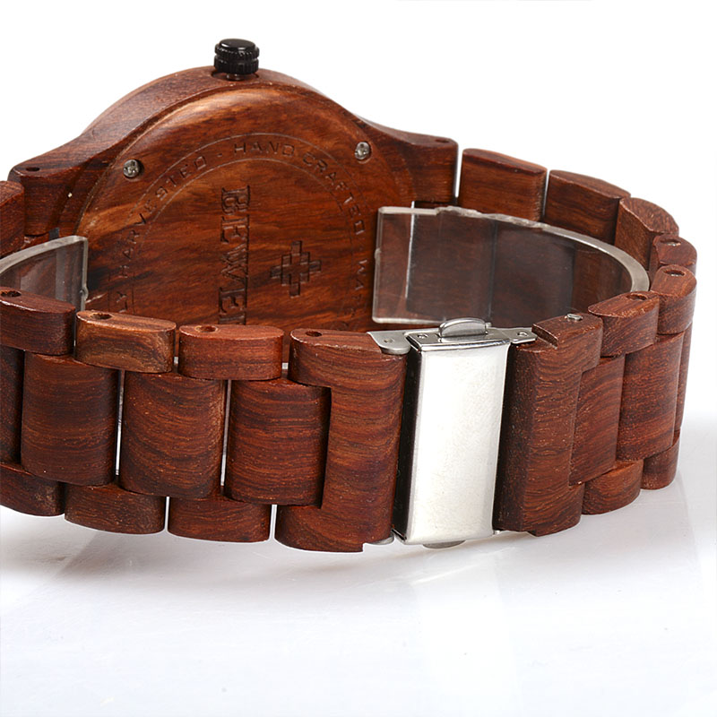 BEWELL meeste puidust käekell, kuupäeva näit, 5 erinevat värvivalikut, viisakas karbis. 4