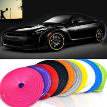 8M Tire Tyre Rim care protector Hub Wheel Stickers strip for Peugeot Renault skoda golf cruze Volkswagen VW ford passat kia