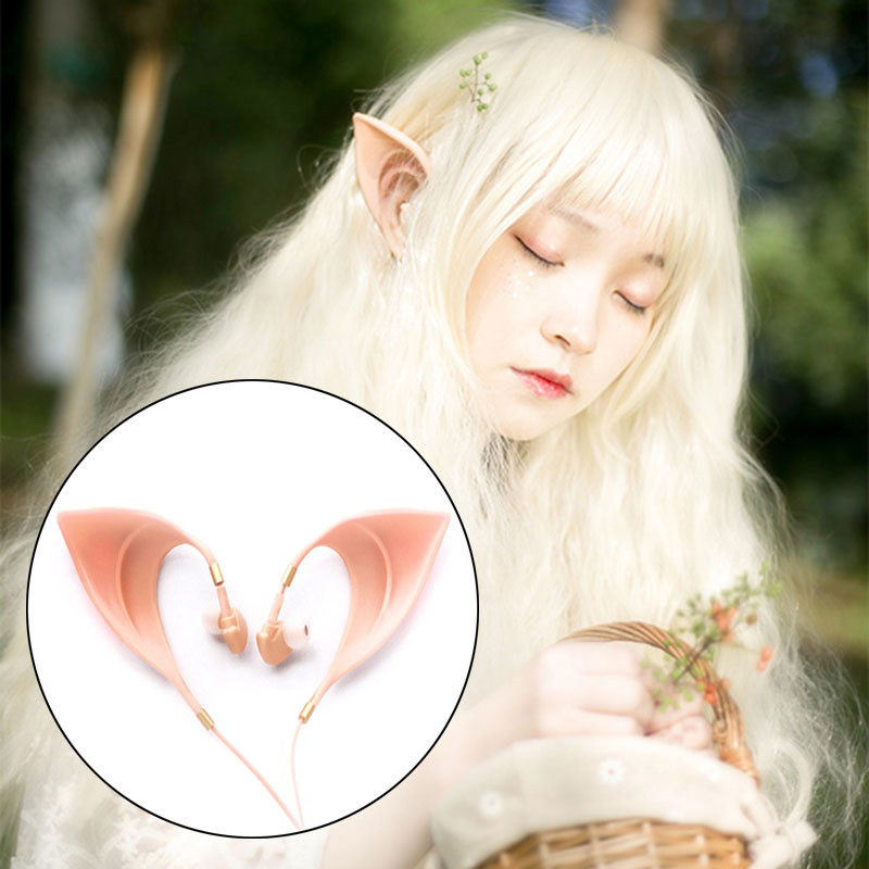 ihens5 Fairy EarPods HIFI Spirit Earphone With Mic 3.5mm Cosplay Elf Ears Earphones Best Gift for Girls Kids New Year Phones