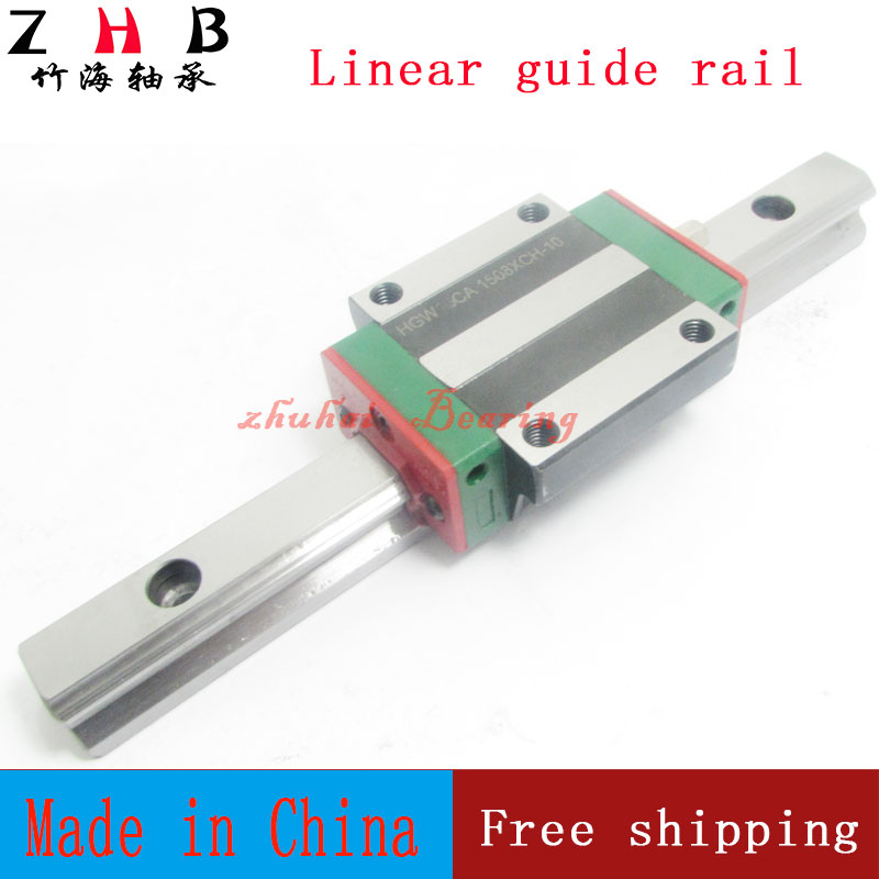 2pcs linear rail HGR20 L1500mm cnc parts and 4pcs HGW20CA linear guide rails block cnc parts free shipping to argentina 2 pcs hgr25 3000mm and hgw25c 4pcs hiwin from taiwan linear guide rail