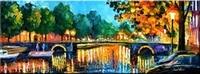 5D DIY Diamond Painting Long bridge maple forest landscape Diamond Drawing Needlework Home Decorative
