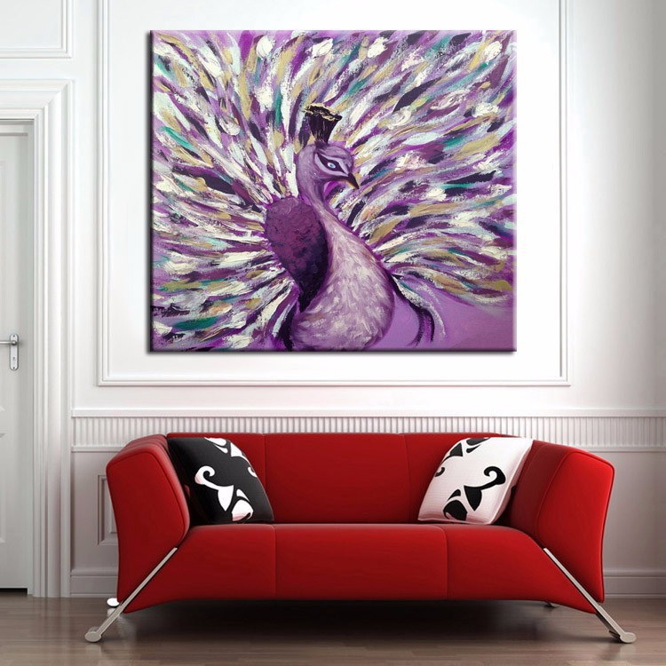 Wall Art Paintings online shop new modern abstract wall art peacock oil painting on