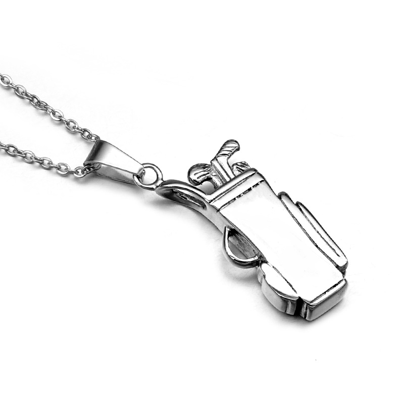 Cheap hip punk gothic cool titanium stainless steel sports golf hip punk gothic cool titanium stainless steel sports golf clubs bag pendants necklaces for men jewelry mozeypictures Gallery