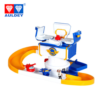 AULDEY Super Wings Airplane Control tower Jett Jerome Deformation Action Figures Assemble Toys Children Gift Model Aniversario