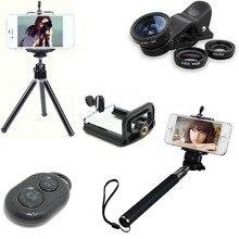 5 В 1 Фото Комплект для Телефона Bluetooth Selfie Придерживайтесь Полюс Монопод/Штатив + объектив gopro