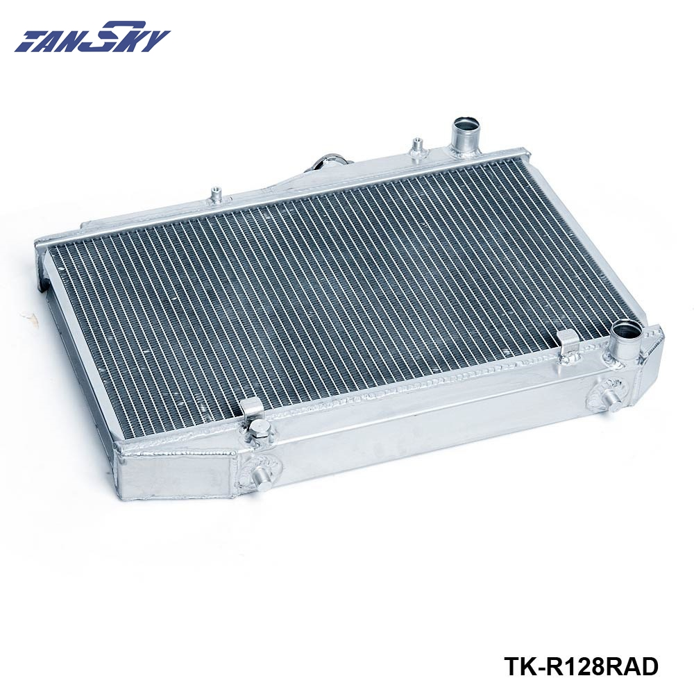 TANSKY - Racing Manual Transmission Aluminum Radiator (2 Row) For Toyota Corolla 84-87 TK-R128RAD epman 42mm 2 row aluminum radiator for nissan skyline r33 r34 gtr gtst rb25det mt ep r106rad