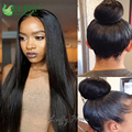 Indian Remy Human Hair Silk Base Wigs With Bleached Knots Silky Straight 5x4.5 Silk Top Full Lace Wig With High Ponytail