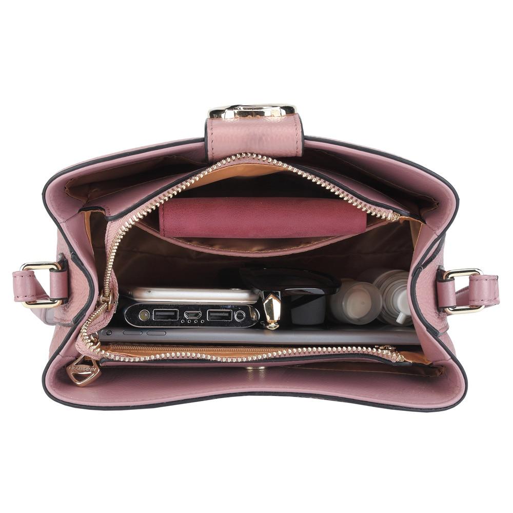 d64888147b Aliexpress.com   Buy BISON DENIM Genuine Leather Bags for Women 2018 Bucket  Designer Shoulder Bag Cossbody Bags women s over the shoulder bags N1364  from ...