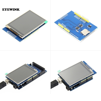 2.8 Inch 3.3V 300mA TFT LCD Shield Touch Display Module For Arduino UNO With Resistive Touch Panel DIY Kit