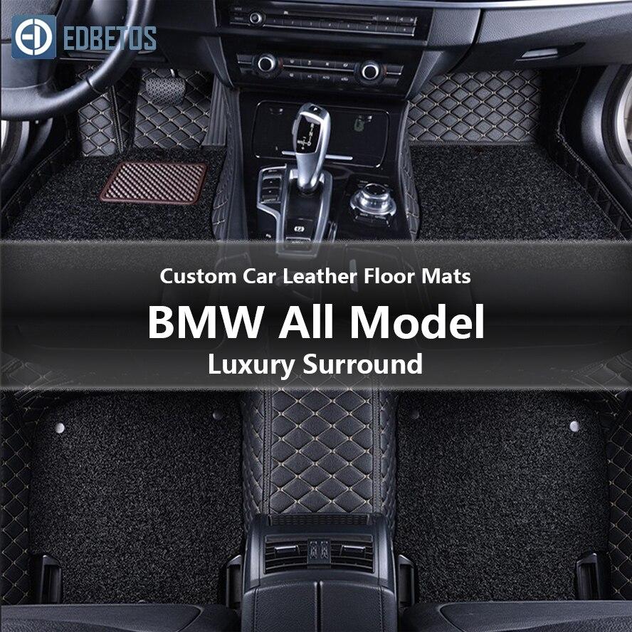 Пользовательские автомобильные кожаные Коврики для BMW Все модели 428i xDrive 428i xDrive Gran Coupe AutoLuxury Surround Wire коврик 2014 2015-in Напольные коврики from Автомобили и мотоциклы
