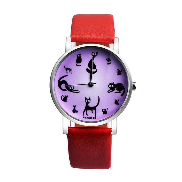 Women's Cute Cat Printed Watch