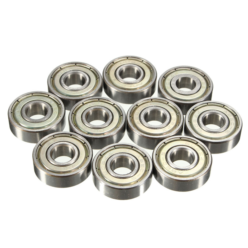 10pcs Double Shielded Miniature High-carbon Steel Single Row 608ZZ Deep Groove Ball Bearing 8x22x7 mm 608 ZZ 2Z 10pcs 5x10x4mm metal sealed shielded deep groove ball bearing mr105zz