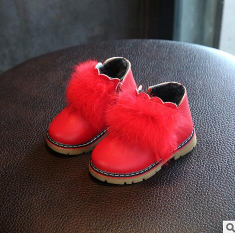Kids Girls Boots Shoes Candy Color New Brand Design Warm Winter Martin Baby Girls Shoes Toddler