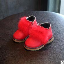 Meninas crianças Botas Sapatos Cor Candy Novo Design Da Marca Inverno Quente Martin Sapatos Sapatos Meninas Da Criança Do Bebê Sapatos Macios Botas Plano Tamanho 21-25