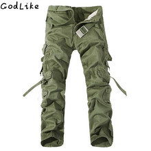 New 2019 Men Cargo Pants army green big pockets decoration mens Casual wash trousers male autumn pants plus size 40