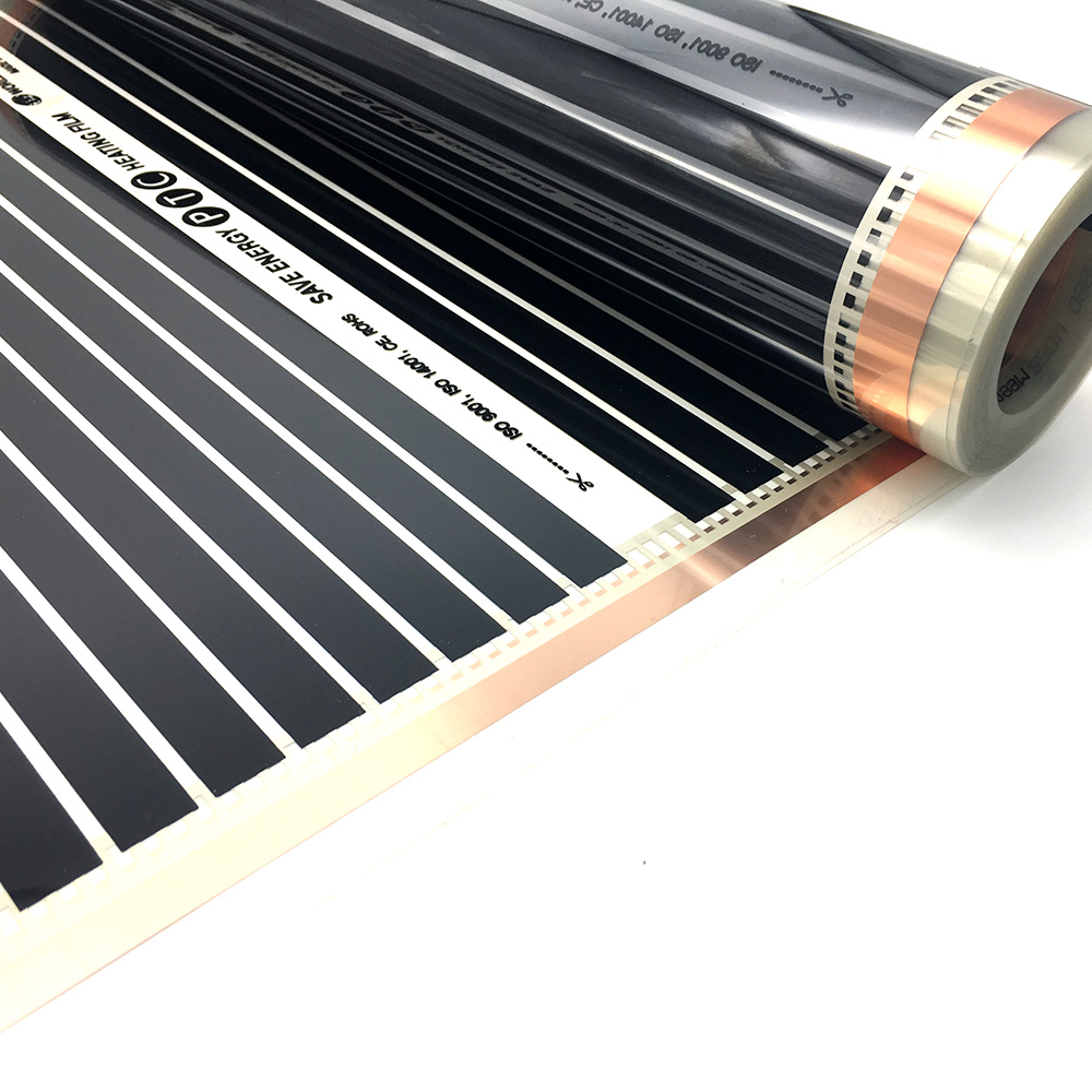 Image 5 - 22M2 PTC Infrared Carbon Heating Foil Mat for Underfloor Tiles Wood Linoleum Laminate Heating with Installation Clips DuabFloor Heating Systems & Parts   -