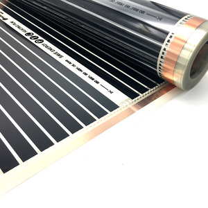 Image 5 - 22M2 PTC Infrared Carbon Heating Foil Mat for Underfloor Tiles Wood Linoleum Laminate Heating with Installation Clips Duab