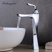 Bathroom Chrome Faucets Tall Basin Mixer Tap Hot and Cold Water Taps Toilet Vintage Washbasin Hot Cold Mixer Tap Crane WB1047