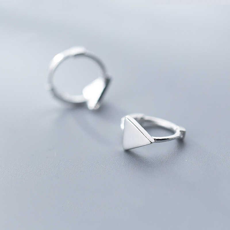 104edbd08 ... 925 Sterling Silver Geometric Triangle Hoop Earrings for Women Girls  Simple Ear Piercing Huggie Earrings Bohemia ...