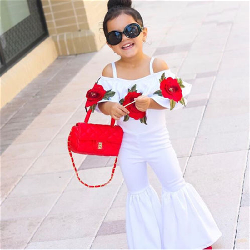 Hot Sale Baby Girl Flower Romper Baby Girls Summer Embroidery Sleeveless 2017 New Bebes Cute Romper Jumpsuits Trousers Outfits
