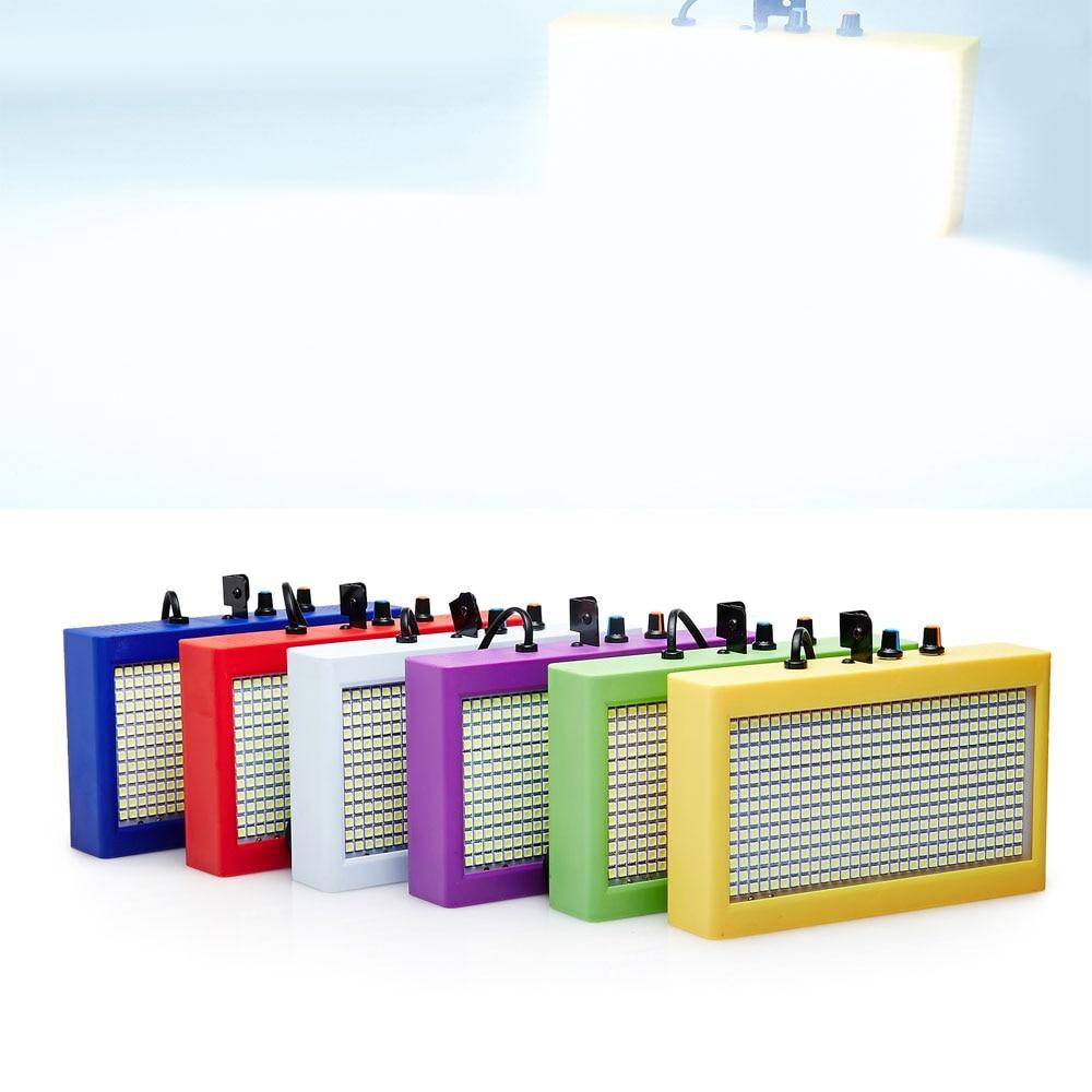Uusi malli Mini Ääniohjaus SMD5050 390 LED-valot Strobe Light Flash Disco Party DJ Baari Lamppu Musiikkiesitys Projektori Valkoinen valaistus